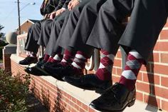 """I love the argyle socks we ordered from you for our October wedding. So happy we were able to find them in our wedding colors, we gave them to our groomsmen as part of their gifts, and they were a big hit!"" Becca & Justin"