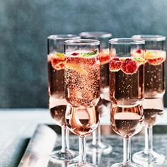 Rose, raspberry & mint fizz - Sainsbury's Magazine