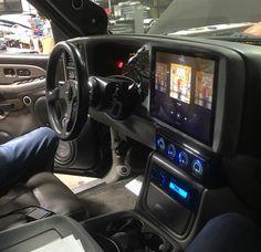 Upgrade that infotainment center. Chevy Tahoe Z71, 2000 Chevy Silverado, Chevy 2500hd, Custom Silverado, Custom Chevy Trucks, Ford Trucks, Silverado Prerunner, Z71 Truck, Chevy Duramax
