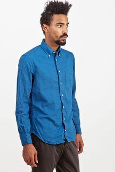 Gitman Vintage - Dotted Shirt Ocean