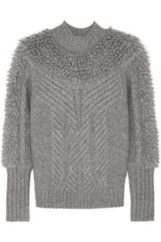 Temperley London Nell cable-knit wool-blend turtleneck sweater | NET-A-PORTER