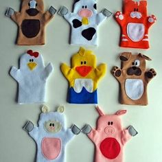 Bought felt today and I am SO making these for the girls! Old MacDonald Felt Finger Puppets {Free Pattern}