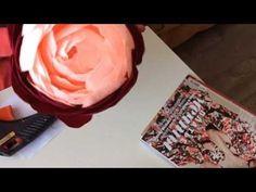 Большой пион из гофрированной бумаги (экспресс мастер класс) - YouTube