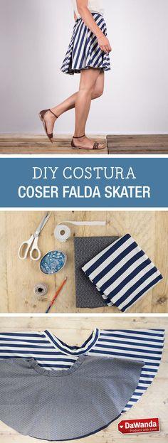 Tutorial DIY - CÓMO COSER UNA FALDA TIPO SKATER en DaWanda.es