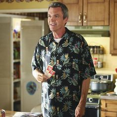 """""""Is Mike trading in his flannel for Hawaiin shirts?! #TheMiddle is all-new Wednesday on ABC."""""""