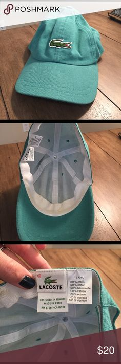Lacoste Teal Hat Lacoste Teal Hat. Worn only a few times. So cute- I just never wear hats 😁 Lacoste Accessories Hats