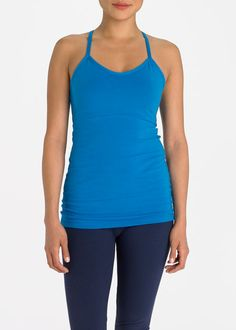 100 Best #Christmas #Gift Ideas from Rodale's | Steel Core T-Back Ruched Tank is super-soft with just the right amount of feminine detail. This pre-shrunk tank provides superior fit and performance.