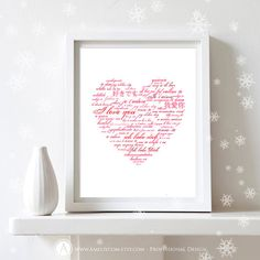 """Printable Valentines Day Decor Poster Print INSTANT by AmeliyCom, $5.00 INSTANT DOWNLOAD Printable Valentines Day Decor """"Pink Heart"""" Poster, Art Print Decoration, Gifts Under 10, Valentine Poster Home Wall Decor  DIY ♥ Do It Yourself ♥ Printable   ---------- Valentine Day Gift Idea! ----------  Just print, to frame and ready to go!  You can print, then put it in a frame and make the perfect Valentines Day Gift for your loved ones, family, coworkers or friends!"""