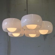 5 Shade Ceiling Lamp designed by Vico MAGISTRETTI, 1961