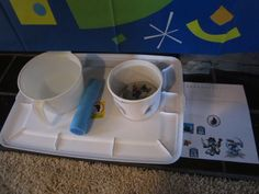 skylanders party, water element, put water in container to make the rock with skylanders on it go up