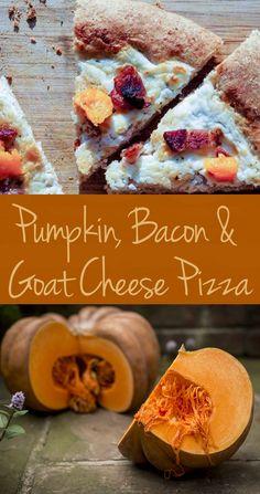 Roasted Pumpkin & Bacon Pizza