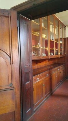 Transition from kitchen to butler's pantry used for flower arranging -