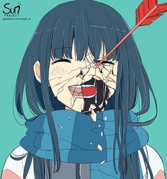 Mimi N are creating SUN Project Anime Art Patreon Anime Triste, Sad Anime Girl, Anime Art Girl, Dark Anime Art, Sun Projects, Dark Art Illustrations, Japon Illustration, Sad Drawings, Vent Art