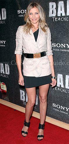 Cameron Diaz Style and Fashion - Roland Mouret Cascada Dress - Celebrity Style Guide