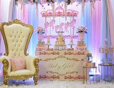 Look at this beautiful carousel baby shower party from I love the dessert table! 🎠 🎀🎠🎀 🎠See all 15 party photos by… Free Baby Shower Games, Baby Shower Favors, Shower Party, Baby Shower Parties, Baby Shower Themes, Shower Ideas, Baby Shower Photos, Baby Shower Gender Reveal, Unicorn Baby Shower