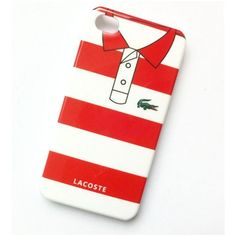 Coque Lacoste rouge blanc iPhone 5, 5s, SE