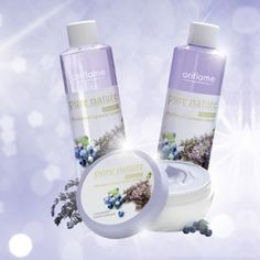 Oriflame Pure Nature Calming Skincare with Organic Blueberry & Lavender Extract
