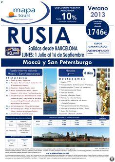 Rusia salidas Barcelona del 1 Julio al 16 Septiembre **Precio Final desde 1746** - http://zocotours.com/rusia-salidas-barcelona-del-1-julio-al-16-septiembre-precio-final-desde-1746/