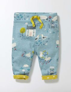 Supersoft Reversible Pants (Mineral Blue Spring Farm)