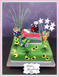 #Halloween Boo Cake #halloweencakes at #thebrilliantbakers Free UK Delivery