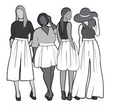 Winslow Culottes By Helen's closet.  PDF 12.00$