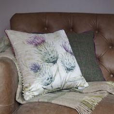 Thistle Glen Velvet Square Cushion Voyage - C140042