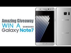 (The winner : Chris J) Amazing Giveaway - Win A Samsung Galaxy Note7 - I...