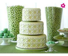 Si en tu boda reina el verde, ésta opción será perfecta para ti. Dulces para bodas originales y sabrosos.