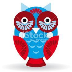 Funny owl on white background. vector Royalty Free Stock Vector Art Illustration