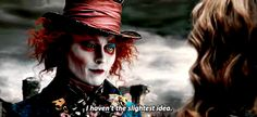 Silly Hatter doesn't even know the answer to his own riddle! I actually have a backstory in mind for why this is... On a side note, his smile in this is so endearing! *swoon*