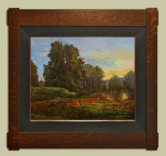 "Jan Schmuckal | ""Soft Morning"" | Original oil on canvas | Dard Hunter Studios Frame | Grove Park Inn Arts and Crafts Conference | 2016"