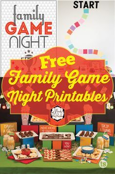 Free Family Game Night Party Printables   Mandy's Party Printables