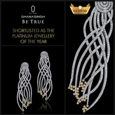 Our #beautiful piece of #Platinum #heaven was shortlisted in the Platinum Jewellery of the Year category in the Retail Jeweller India Awards, '15