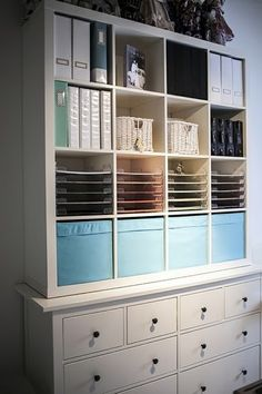 Ikea Kallax inspiration, ideas & hacks for every roomThe best Ikea hacks with the bookcase from Ikea Kallax. Ikea Kallax ideas how you can organize every room in your house. The simplest Ikea hack Craft Room Office, Decor, Ikea Expedit, Room Inspiration, Kallax Ikea, Ikea Kallax Shelf, Ikea Furniture, Shelving, Home Decor