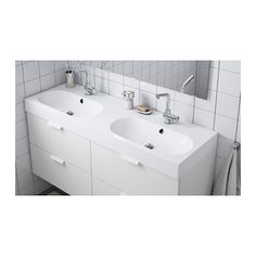 BRÅVIKEN Servant 2 kummer - 140x49x10 cm - IKEA