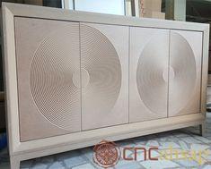 Ahşap Yuvarlak Desen Konsol | Wooden Round Pattern Console