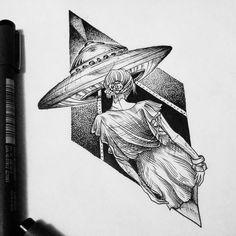 No caminho do desconhecido Disponível para tattoo, reservar o desenho pelo…