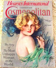 "1927 Harrison Fisher cover for ""Cosmopolitan""."