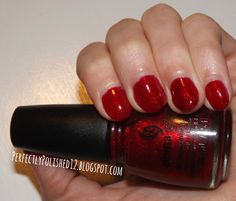 "PerfectlyPolished12: China Glaze's ""Ruby Pumps"""