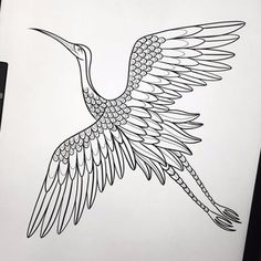 Crane Tattoo, Tattoos, Tatuajes, Tattoo, Japanese Tattoos, A Tattoo, Tattoo Designs, Tattooed Guys