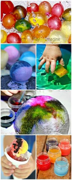 Beat the heat with these genius ice and water play ideas - the very best for summer fun! Summer Activities For Kids, Summer Kids, Color Activities, Indoor Activities, Sensory Activities, Family Activities, Summer Crafts, Fun Crafts, Crafts For Kids
