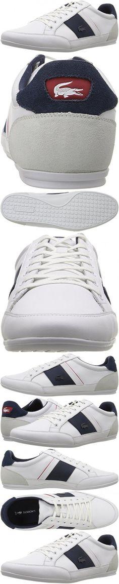 Lacoste Men's Chaymon G416 1 Casual Shoe Fashion Sneaker, White/Navy, 10.5 M US