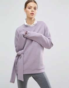 Perfect lilac jumper with front knot detail
