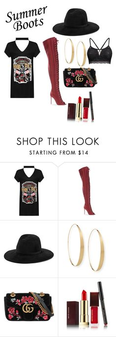 """""""live life on the edge"""" by ereyes-sd ❤ liked on Polyvore featuring WearAll, Gianvito Rossi, rag & bone, Lana, Gucci and Kevyn Aucoin"""