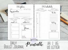 Bullet journal printable - planner insert, planner refill, weekly ...