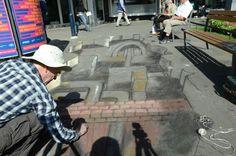 20 Minuten - Asphalt-Picasso bringt Illusion nach Basel - #Basel
