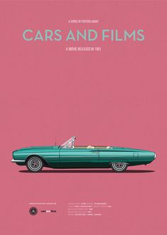 Poster of the car of Thelma And Louise. Illustration Jesús Prudencio