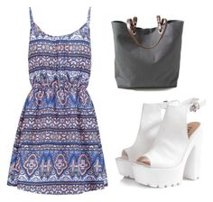 """Fear tag"" by kabylou ❤ liked on Polyvore featuring New Look, Glamorous and Independent Reign"