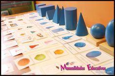 Sólidos Geométricos Montessori - Tarjetas para imprimir - Creciendo con Montessori