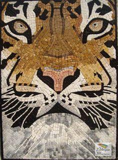 AN025 Marble Mosaic Wild Tiger Tile